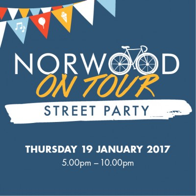 Norwood on Tour Street party next Thursday!
